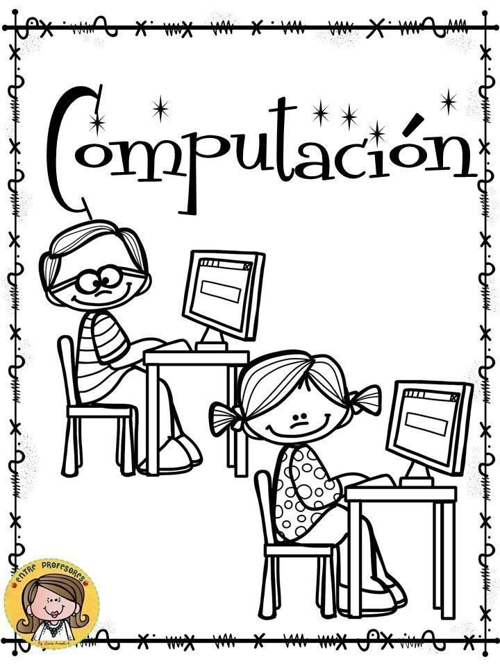 Portada Computacion Clases De Computacion Computacion Caratulas Para Cuadernos Escolares