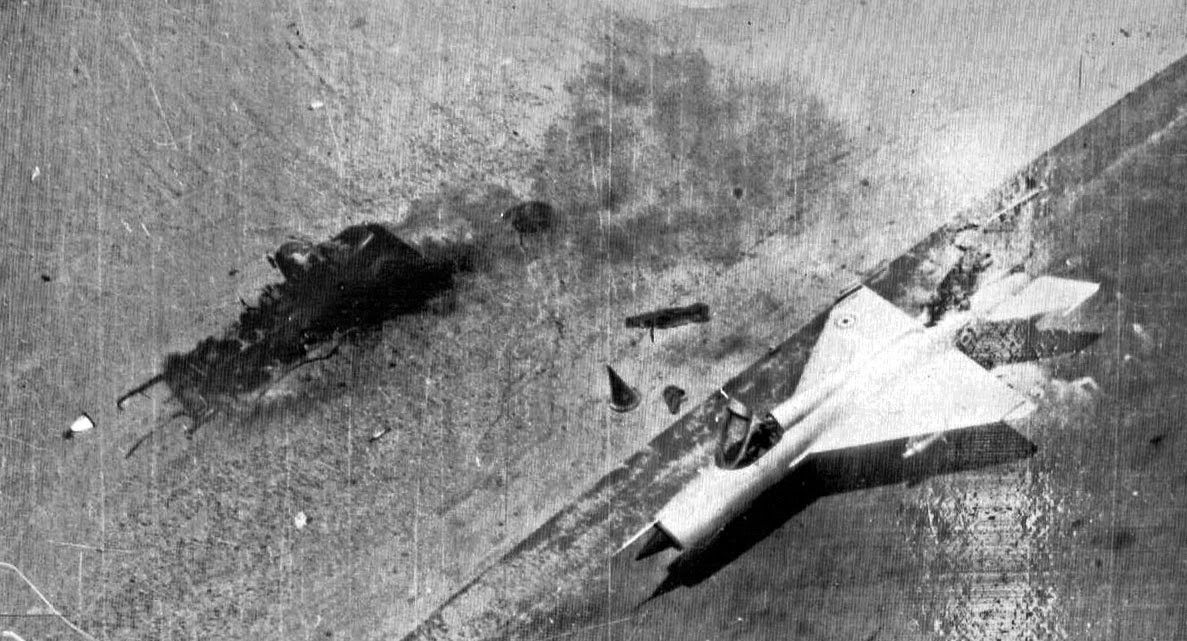 Two Russian Mig War Planes Destroyed By Israel In The Six Day War With Israel Beinged By Egypt Jordon Syria And Iraq June