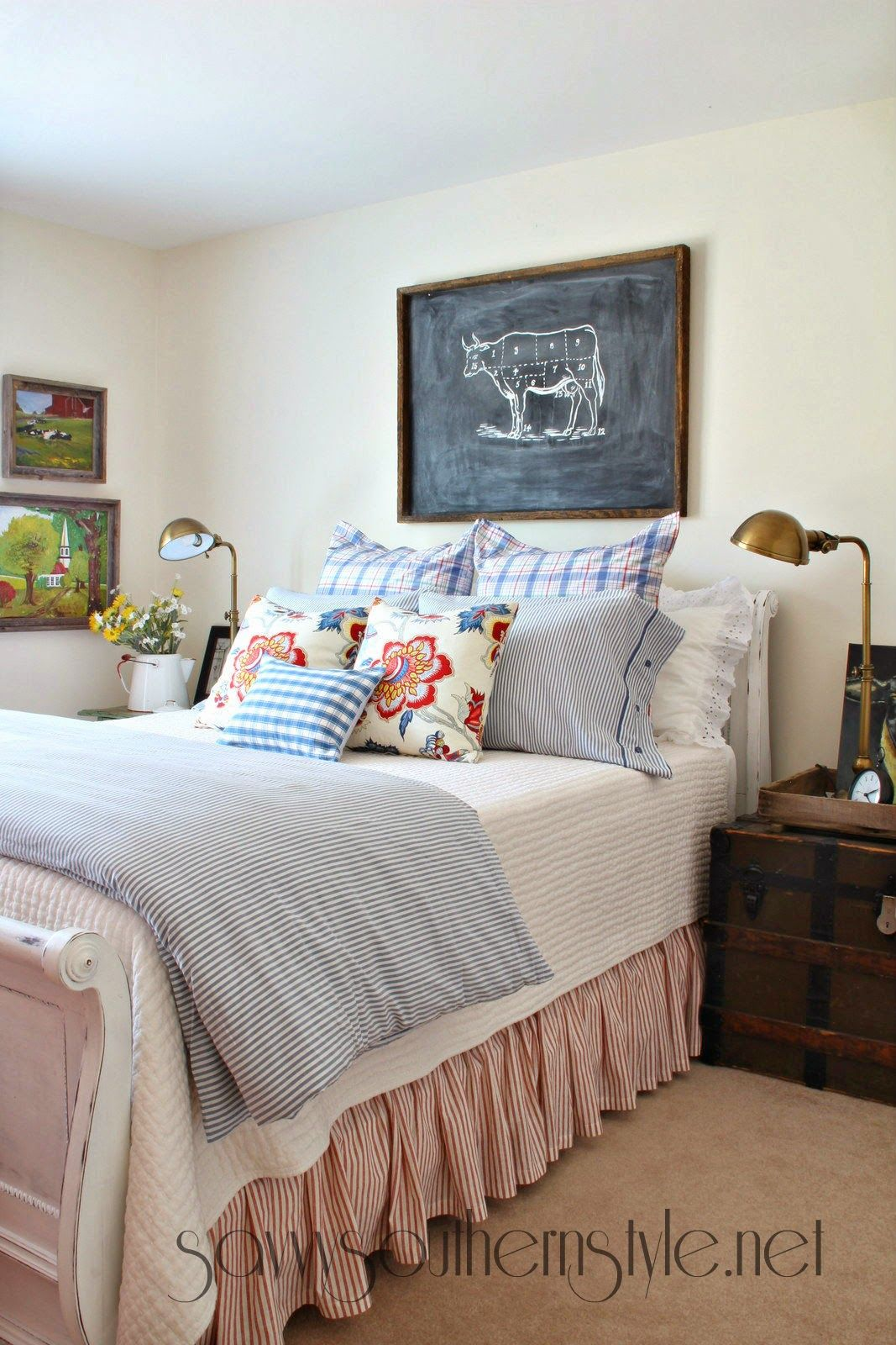 Fashion Inspired Guest Room: Farmhouse Style Guestroom Spring 2014