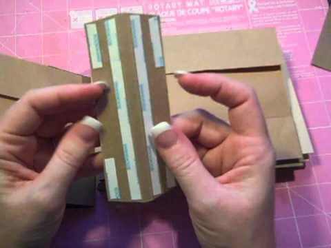 Split Paper Bag with Envelopes Mini Album