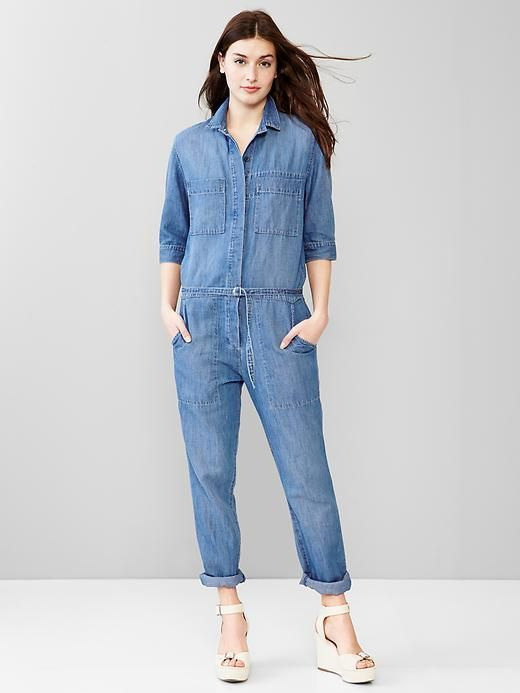 1969 Linen Denim Jumpsuit