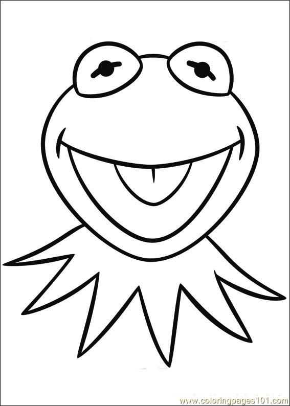 Frog Head Coloring Page Amazing Design