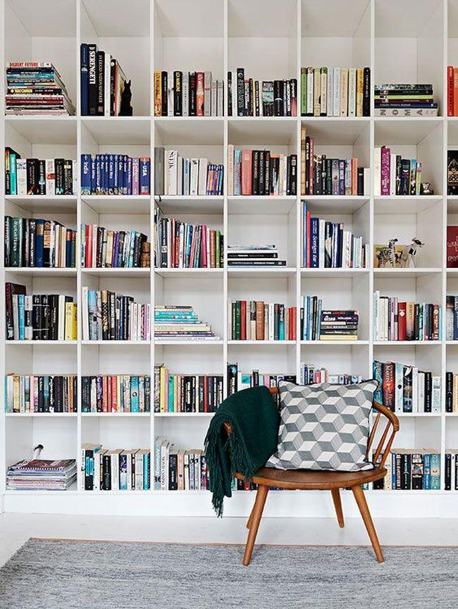 10 id es d co pour am nager une biblioth que murale biblioth que murale murale et. Black Bedroom Furniture Sets. Home Design Ideas