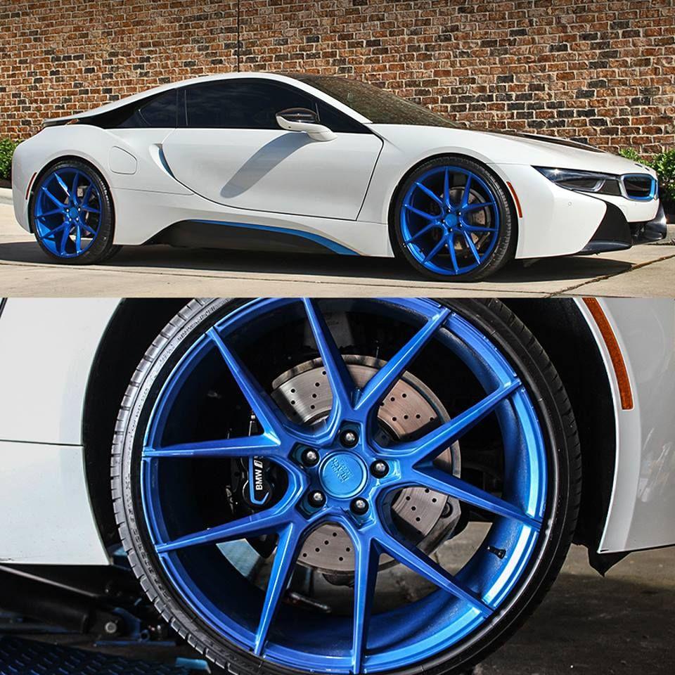 Cleanest BMW in Houston? BMW i8 on custom Savini Wheels