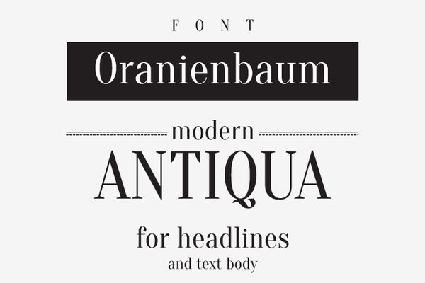 oranienbaum-1 The free font Oranienbaum is a modern