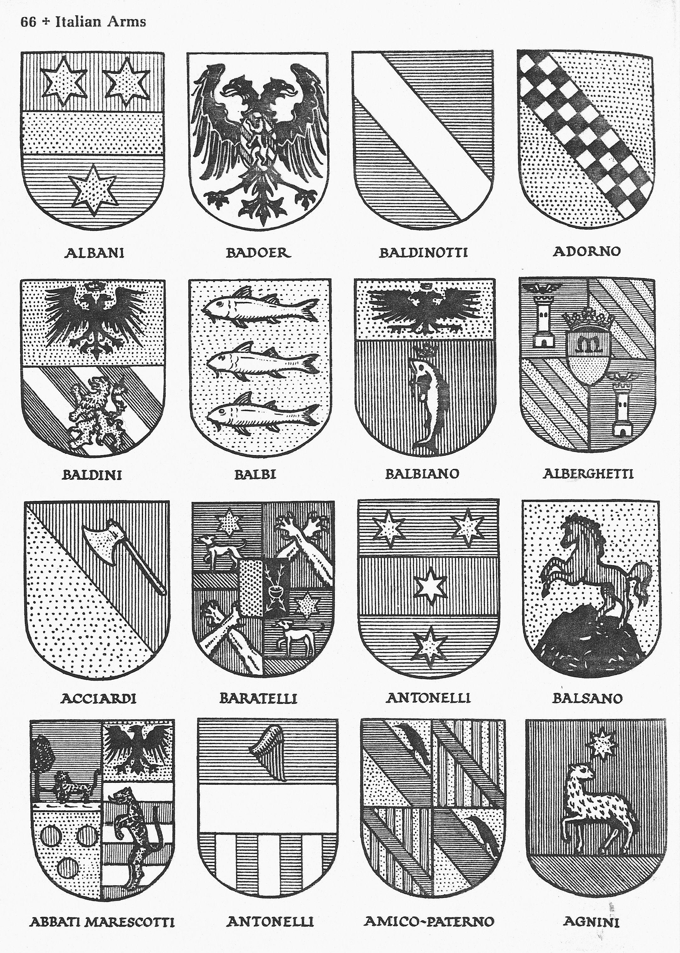 Italian Family History Crests ~ Italian Coats of Arms