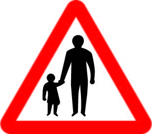 544-1 Pedestrians £0.99 #signs #traffic #road #UK
