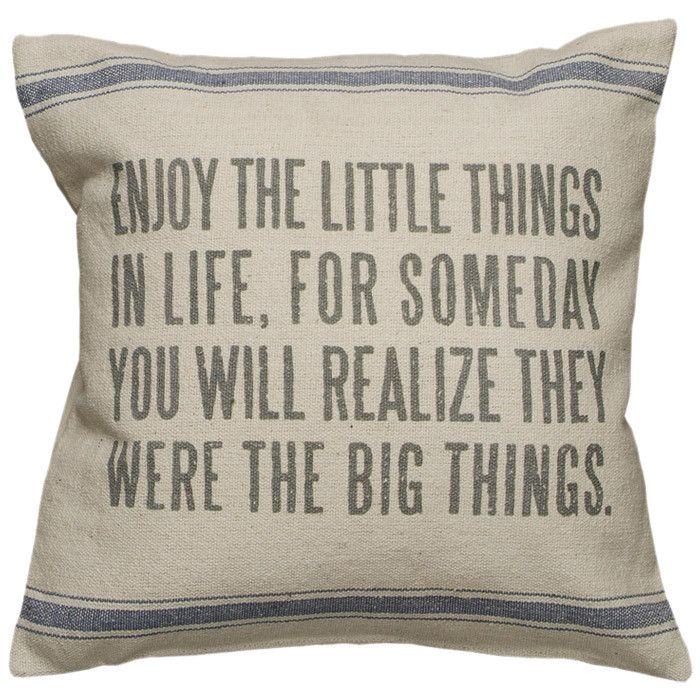 Little Things Pillow In Cream Quotes Words Cool Words