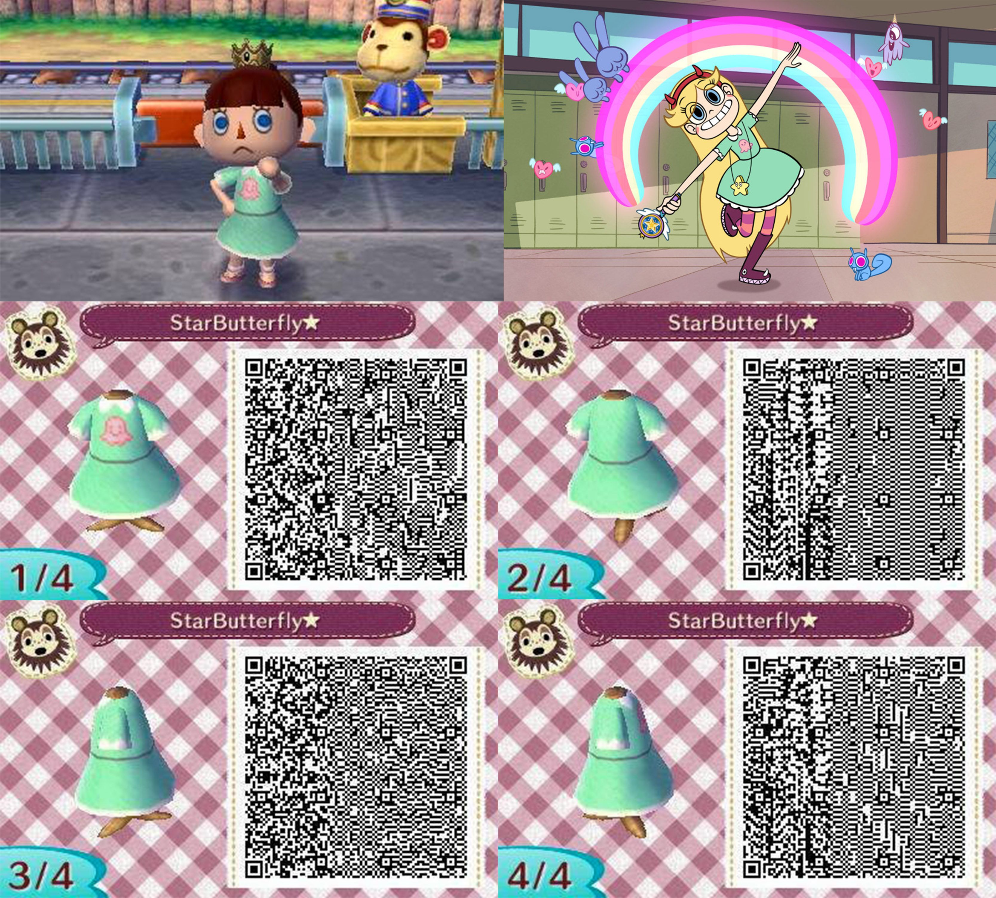Leather jacket qr code new leaf - Star Butterfly Star Vs The Forces Of Evil Qr Code Design For Animal Crossing