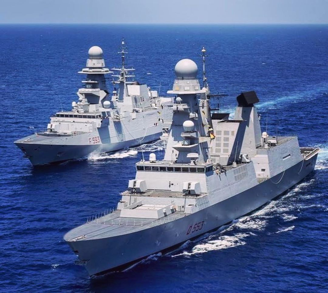 3 343 Likes 9 Comments Maverick Billjoes W Mcarthur Navytopics On Instagram Repost Navy Power France Italian Destroyer And Frigate Di 2020 Militer