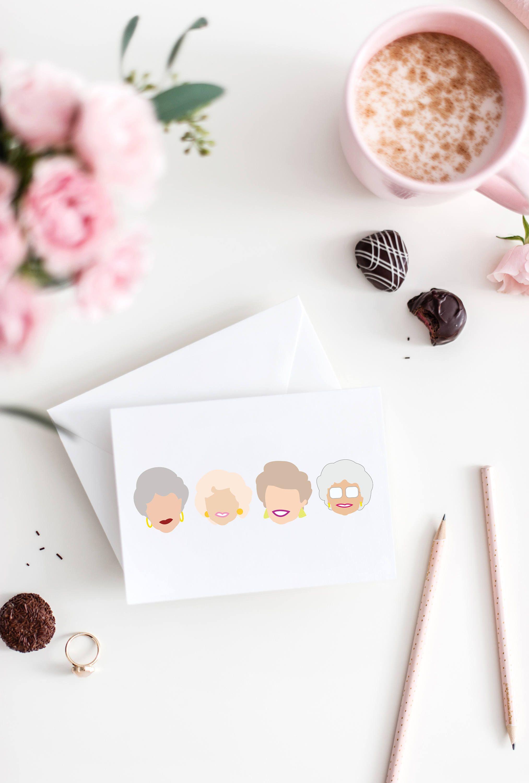 Golden Girls Notecard Golden Girls Card Golden Girls Birthday