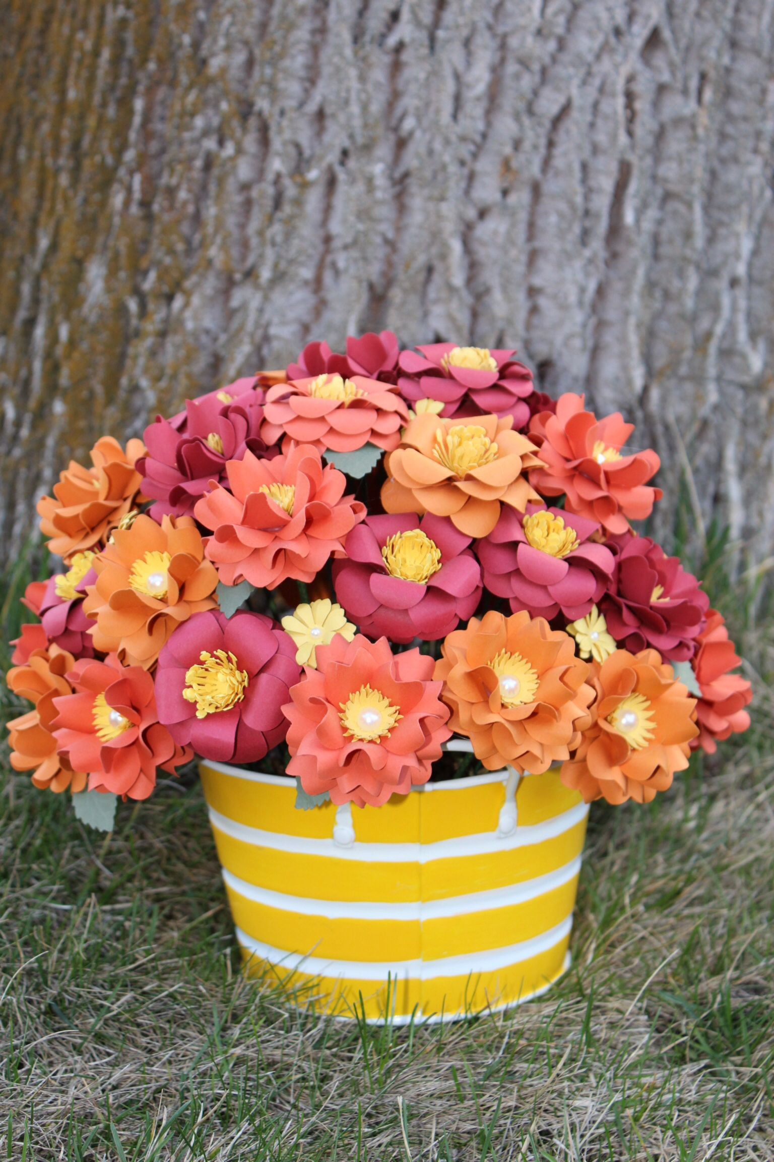 Fall Arrangement Paper Flowers My Paper Flowers Pinterest Fall