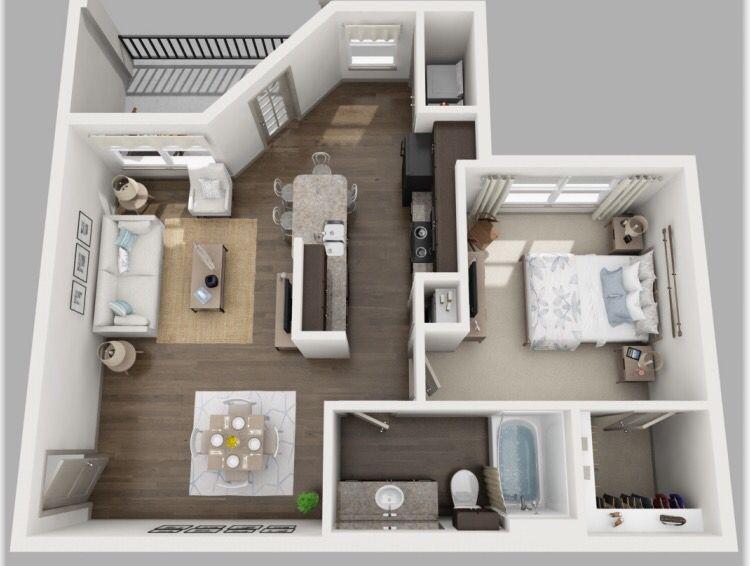 Volar Welcomes The Wren Floor Plan Spacious 1 Bedroom 1 Bath Frigidaire Black On Black Energy Efficient Applian Luxury Apartments Apartment Stylish Interiors