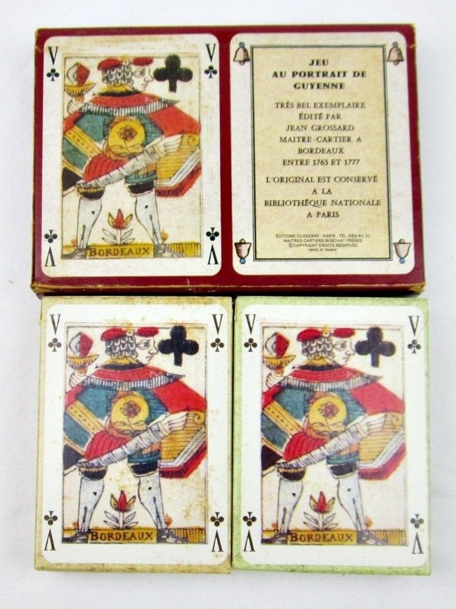 """Double Boxed Set French Repro Playing Cards """"Jeu Au"""