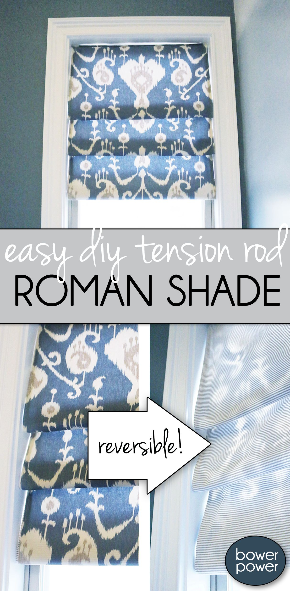 Easy Roman Shade #diycurtains