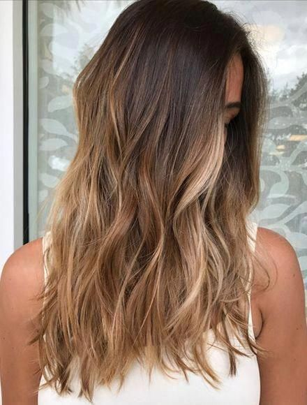 layered hair -   18 hair Brunette honey ideas