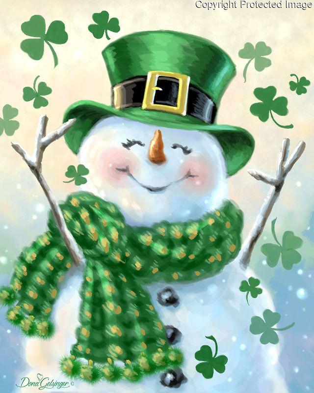 Bildergebnis für irish snowman gifs