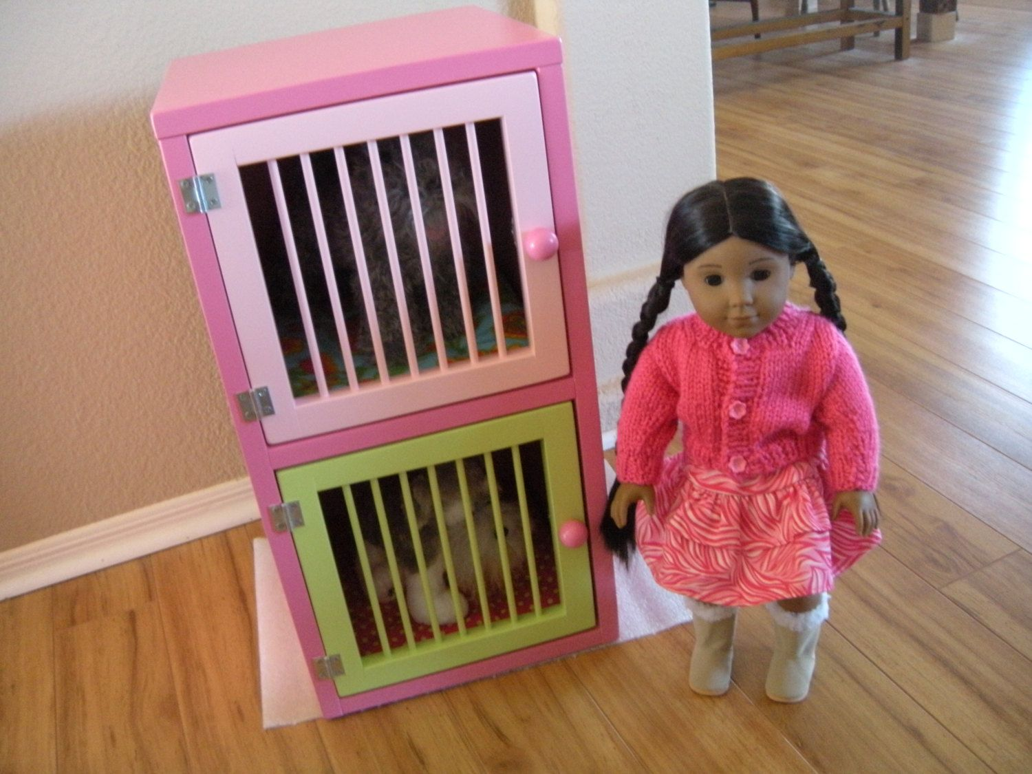 Pet boarding hutch large stack vet set pet cage for american girl doll large dogs and pets