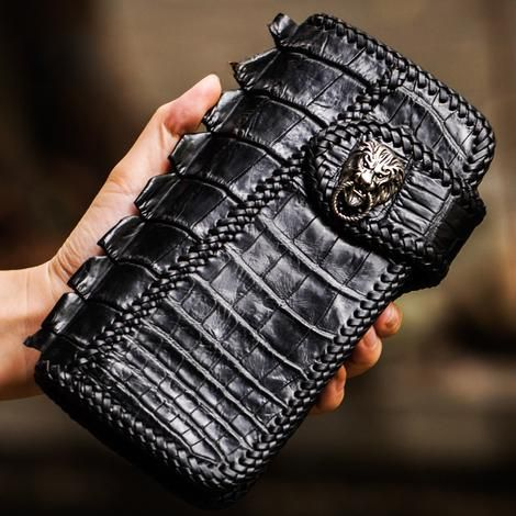Genuine Leather Mens Chain Biker Wallet Cool Leather Wallet Small Wallets for Men #leatherwallets
