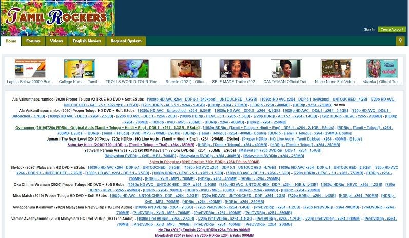 Top 10 Tamilrockers Proxy Sites And Unblocked Tamilrockers Mirror