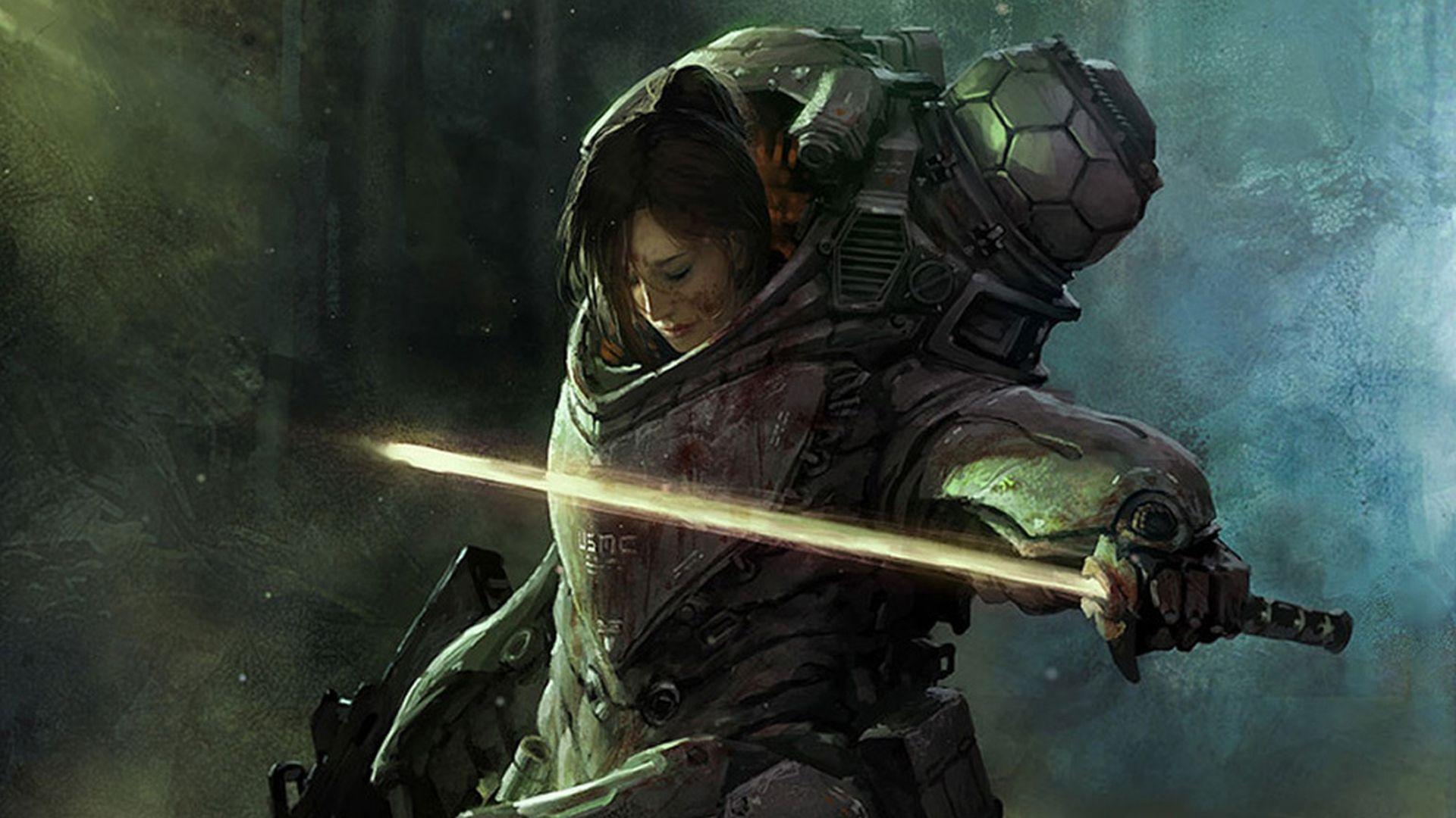 sci fi angels Sci Fi Women Warrior Wallpaper