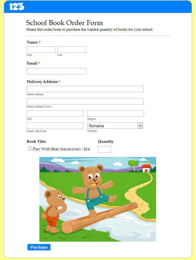 Online order form for school materials | Tuesday Template, nice ...