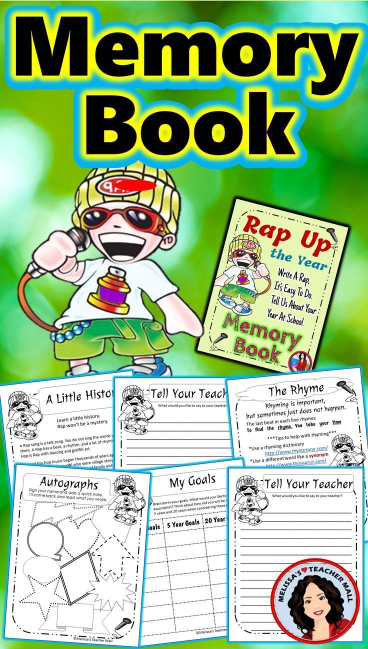 Memory Book End of Year Activities Memory books, Books