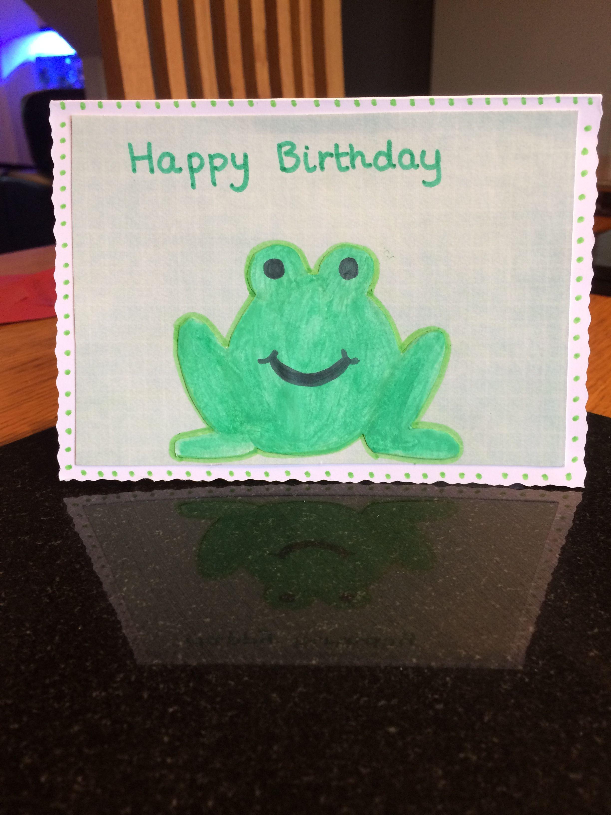 Frog 🐸 birthday card homemade Creative Craft