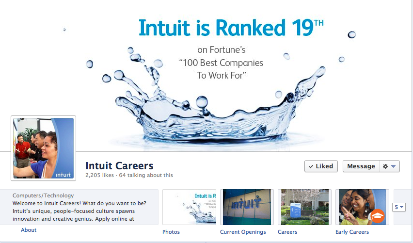 How Intuit Does Social Media Recruitment And Employer Branding By Adriana Costello Via Linkhumans Com Employer Branding Case Histories Branding