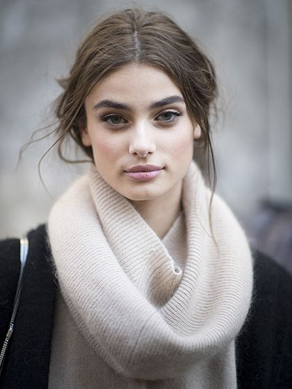 Taylor Hill's bold brows and rosy cheeks