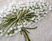 Embroidered Dandelion from WaterRose