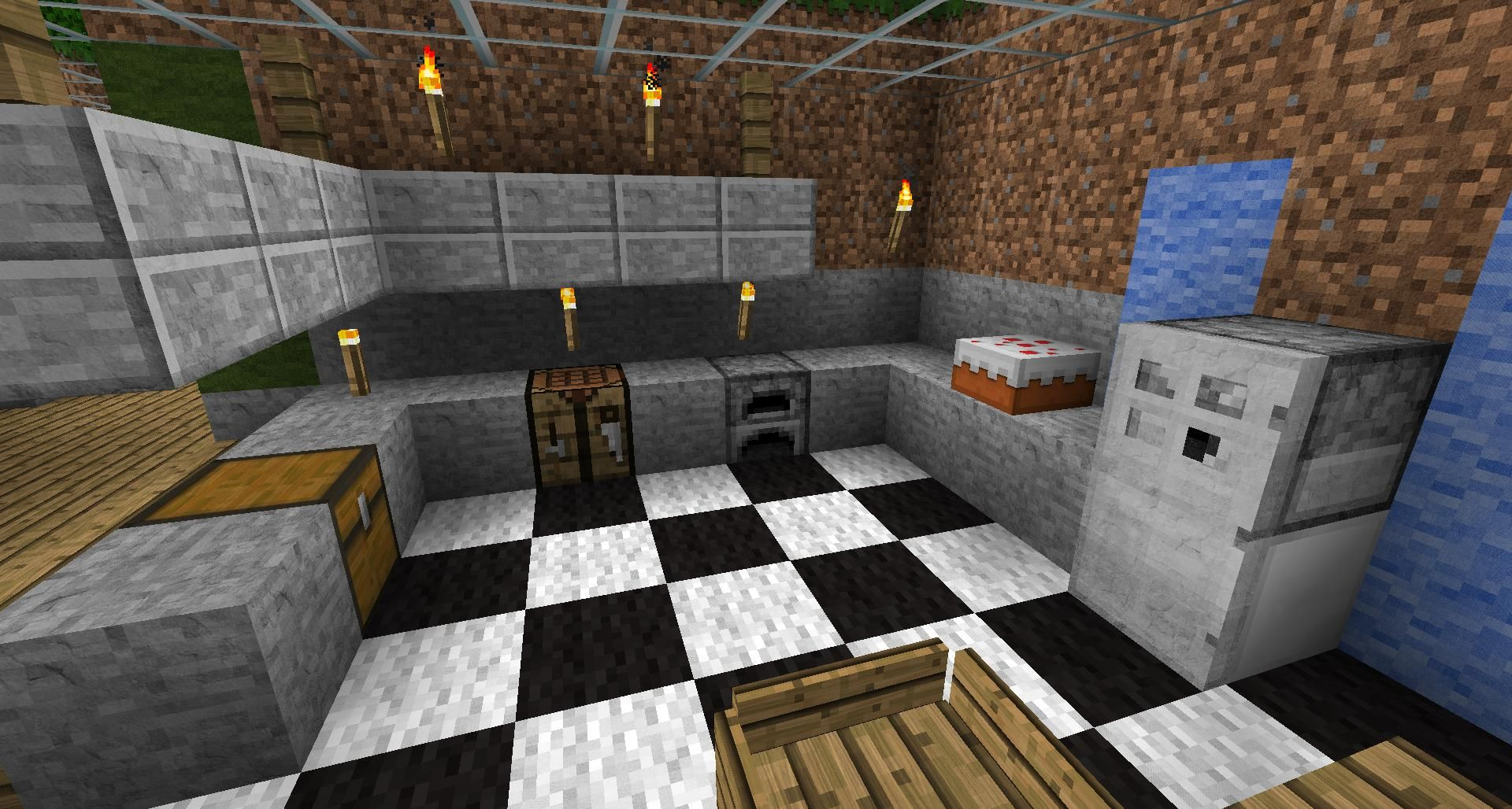Kitchen Designs Survival Mode Minecraft Discussion Minecraft Forum Modern Minecraft Houses Minecraft Kitchen Ideas Easy Minecraft Houses