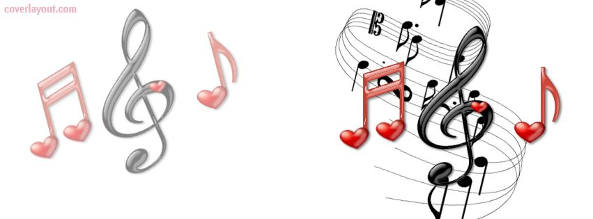 Music Notes Black And Red Facebook Cover Coverlayout Music