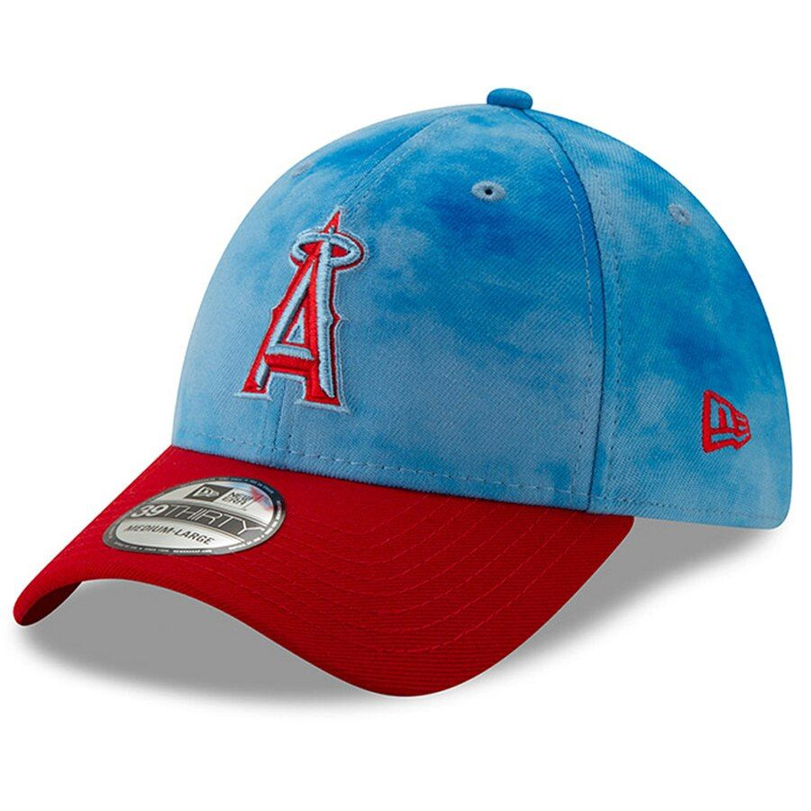buy online 7f1fd fb790 Men s Los Angeles Angels New Era Blue Red 2019 Father s Day 39THIRTY Flex  Hat,