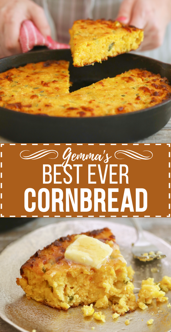 Gemma S Best Ever Cornbread Recipe Gemma S Bigger Bolder Baking Recipe Cornbread Recipe Sweet Homemade Cornbread Corn Bread Recipe