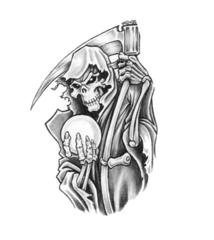 death grim reaper tattoo design ideas sample tattoo. Black Bedroom Furniture Sets. Home Design Ideas