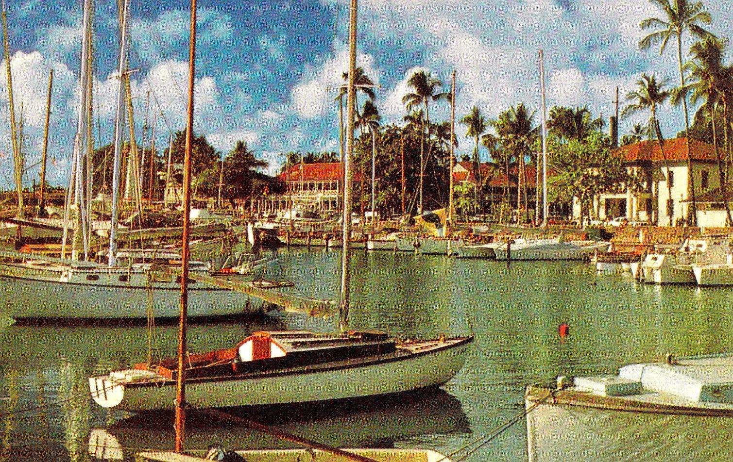 Vintage 1970: Lahaina Harbor, Maui. | Maui Now and Then ...