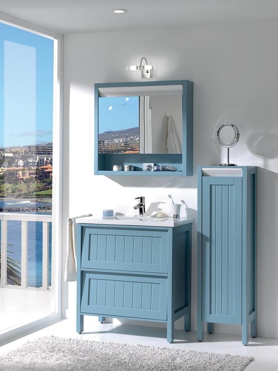 Des meubles de salle de bains esprit bord de mer : Inspiration Bord ...