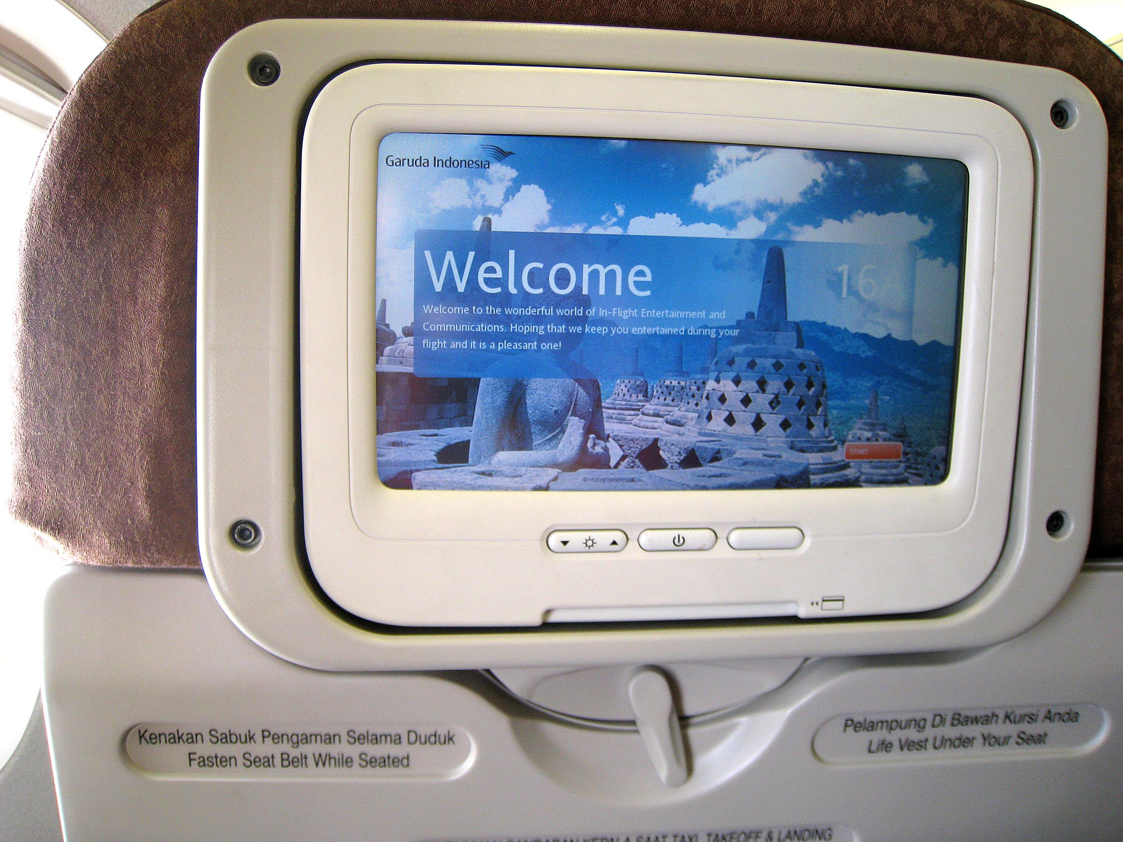 Image result for inflight lcd garuda indonesia
