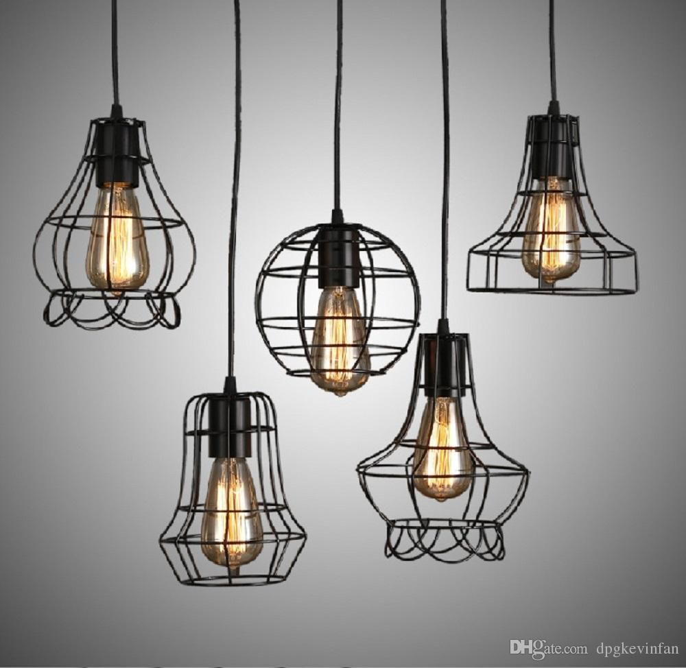 Iron Ancient Chandeliers Artistic Lamps Abcde Five Kinds Of Styles