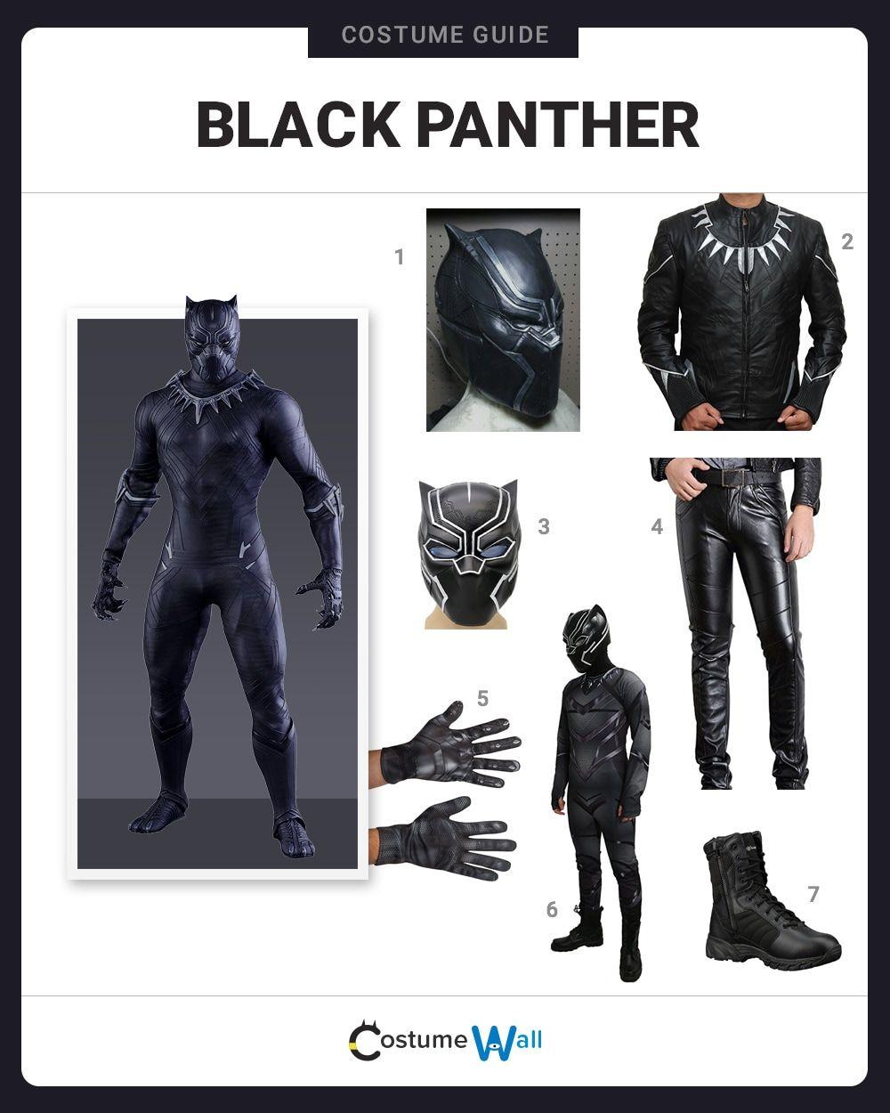 Dress Like Black Panther Black Panther Marvel Costume Black Panther Halloween Costume Black Panther Costume
