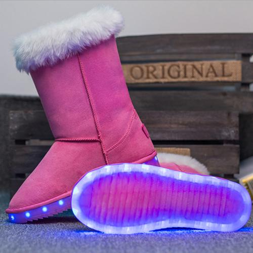 b1c63f1a236 Botas LED Alto Adultos | Zapatillas Con Luces Mujeres | Kids winter ...