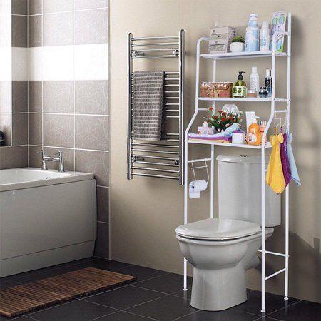 Toilet Shelf 3 Tiers Mainstays Bathroom Space Saver Towel Organizer Over The Toilet Shelf Unit Large S Bathroom Space Saver Shelves Over Toilet Toilet Storage