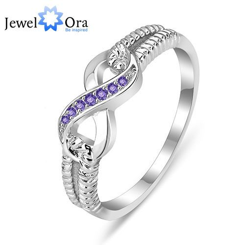 Sterling Silver 925 Infinity Ring Multi-Color AAA Cubic Zirconia Rings For Women RI101176 JewelOra Classic Jewelry One Direction US $6.99