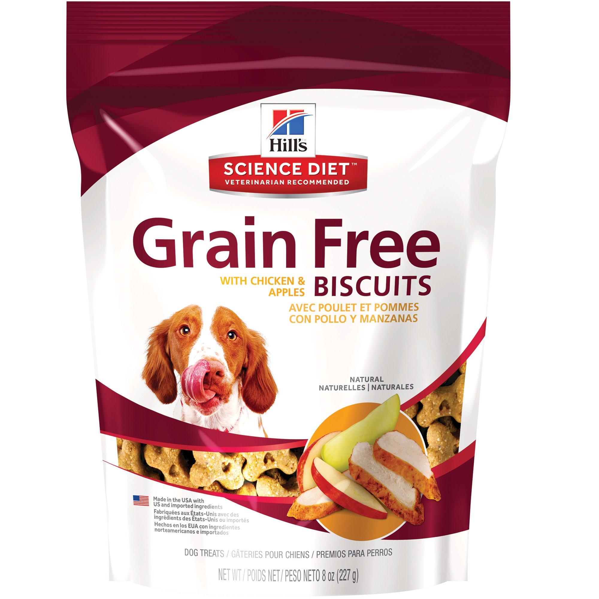 Hills grain free crunchy naturals with chicken apples