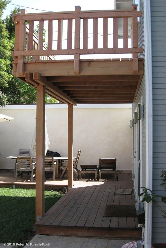 Deck For A Walk Out Techo De Patio Patios Y Barandillas