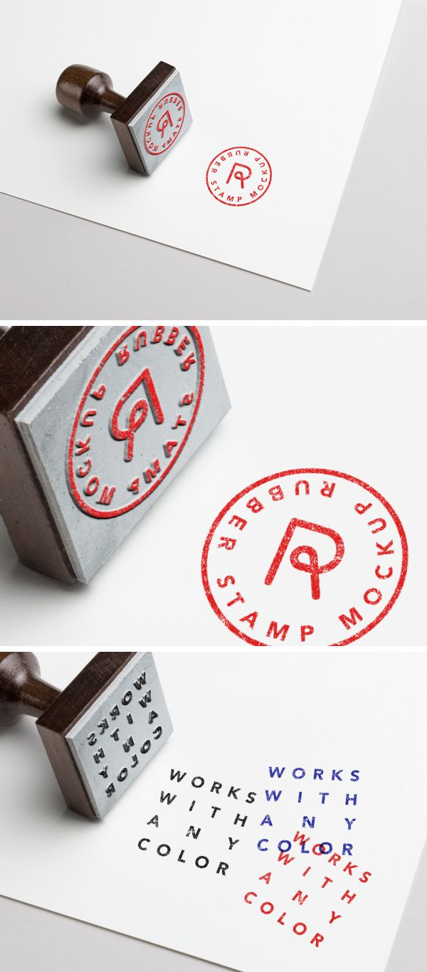free rubber stamp mockup psd template design resource pinterest