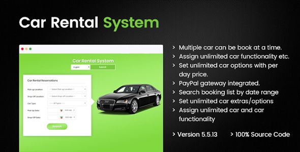 Car Rental Portal - Laravel PHP | Code-Scripts-and-Plugins | Car