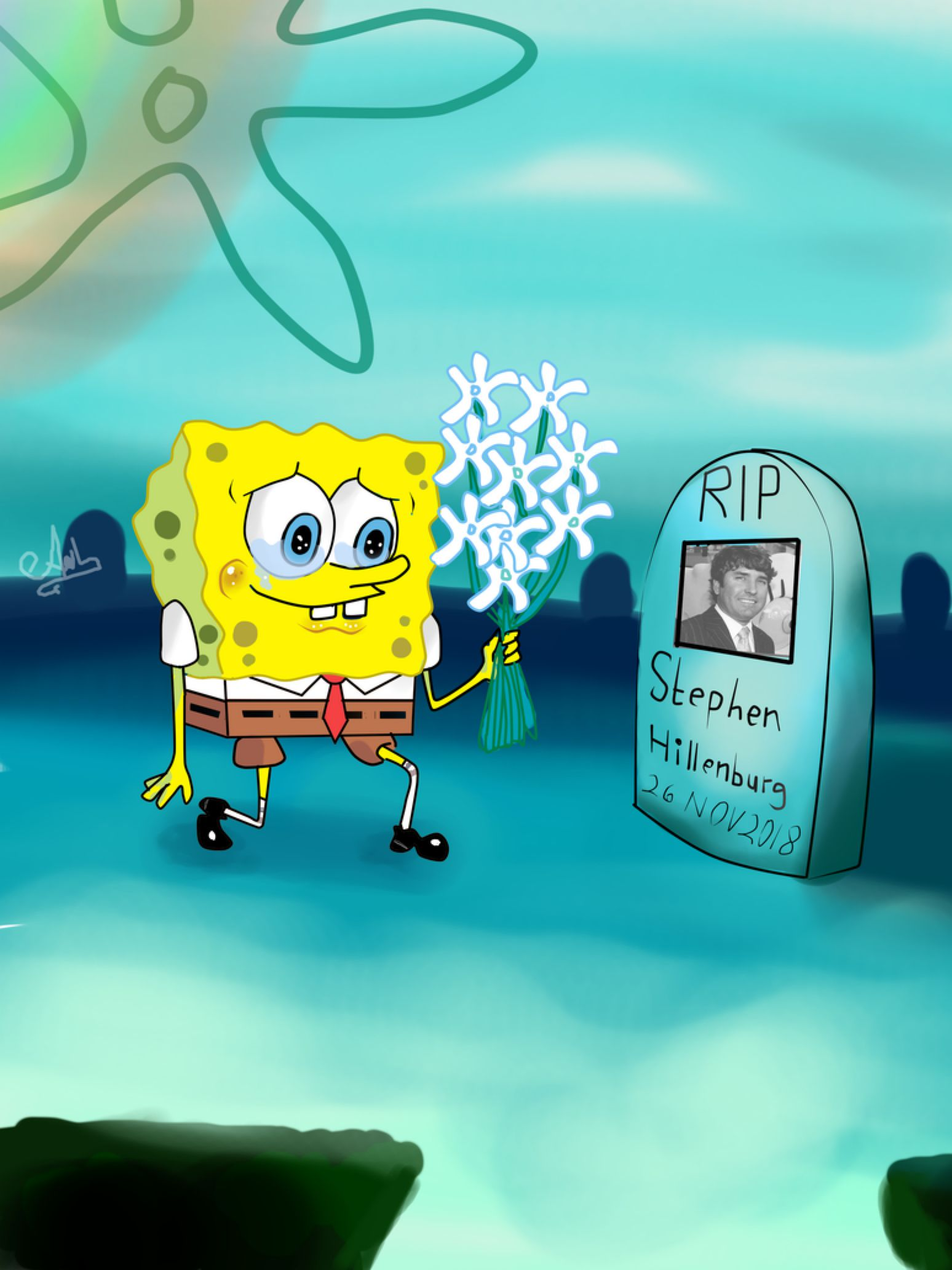 Spongebob Rip Stephen Hillenburg By Latia122 On Deviantart