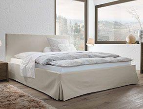 Hochwertiges Bett Pilio Mit Webstoff Bezug Betten De Polsterbett